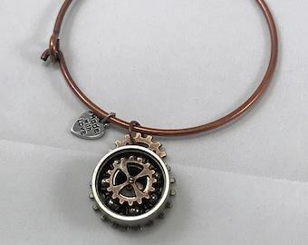 Steampunk Skate Bearing Bracelet