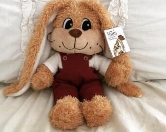 Miles, the plush stuffed animal