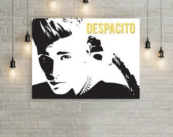 Justin Bieber Poster, Justin Bieber Despacito Poster, Music Artist Poster, Trending Artist Poster, Top Pop Celebrity Poster,