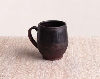Brown ceramic mug, espresso cup, stoneware pottery cup, ceramic teacup, rustic coffee cup, handmade pottery, ceramic cup, tea cup, tea mug