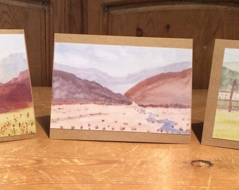 Landscape print cards from original paintings
