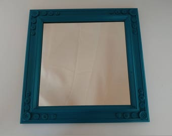 Button Embellished Square Mirror