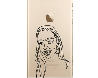 Personalised Continuous Line Drawing Print Phone Case