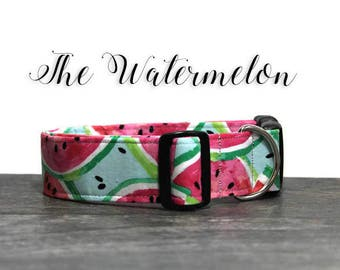 Watermelon Dog Collar, Cute Dog Collars, Summer Collar for Dog, Watermelon Collar, Collar for Girl Dog, Girl Dog Collars, Pink Dog Collar