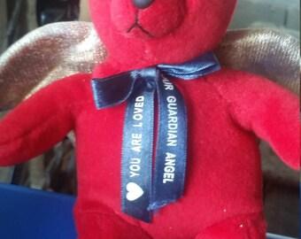 Red guardian angel bear