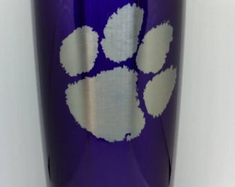 Purple Clemson Tiger Paw Cup