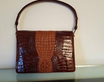 Stupenda borsa in rettile anni 60 - Beautiful  reptile bag from the 60s