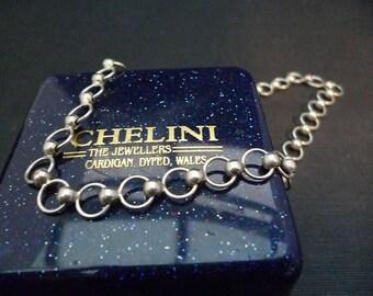 "Vintage - Unique - bracelet - sterling silver - 925 - 9"" - 10"" with extension chain"
