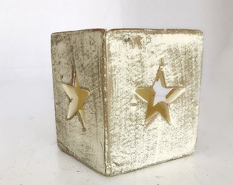Vintage Star Candle, Rustic Star Tealight , Boho Candle,