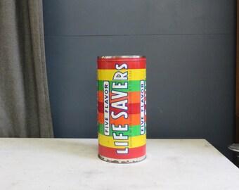 Rare Huge - Large Vintage Life Savers Advertising Tin