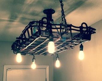 Rustic light fixture with Edison Bulbs