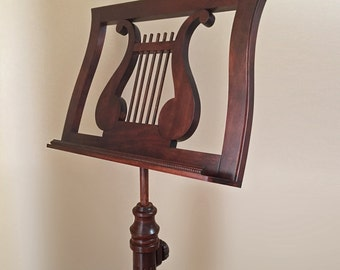 Wooden Music Adjustable Stand. Exclusive. Handmade.