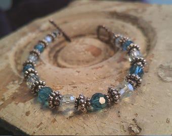 Swarovski crystals and Sterling silver bracelet
