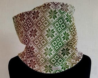 Merino scarf, multicolor scarf, infinity scarves, merino wool scarf, circle scarf, infinity scarf, circle scarves, scandinavian scarf