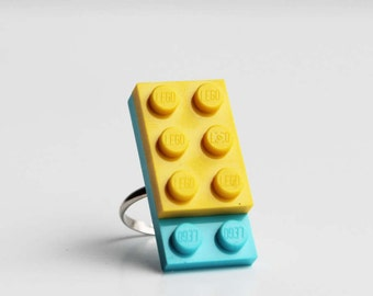 Funky adjustable ring in egg blue