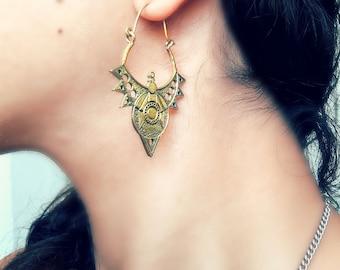 Moroccan earrings,Dangle earrings,antique boho earrings, vintage earrings,Egyptian earrings,Boho earrings,Urban earrings,Tribal jewelry