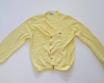 Vintage Izod Lacoste Yellow Cardigan