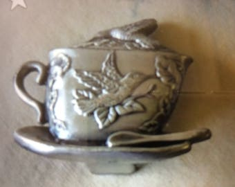 Place Card Holders pewter (I believe) 8 Vintage REDUCED   #275