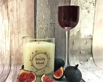 220g Soy Blend Candle Cassis & Fig Scented | 220g Container Candle | Cassis and Fig Scented | Cassis and Fig | Fruit Scented | Gift Idea