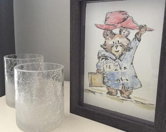 Hand Painted Paddington Bear Watercolour