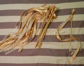 Pink and Gold Ribbons