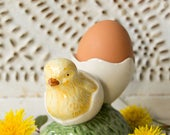 Vintage Chick Egg Cup - Ceramic - Farmhouse Style - Country Chic - Easter - Spring