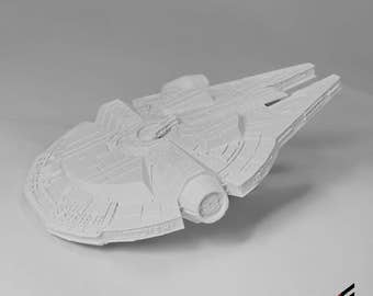 Star Wars Millennium Falcon 3D Printed White Paintable FREE SHIPPING