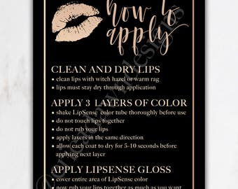 LipSense How To Card //  LipSense Tips and Tricks Card // Lipsense Card // LipSense Business Card // lip sense