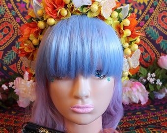 Unicorn/Flower Headband-Headpiece/Crown/Kawaii/Lolita/BoHo-Fairy (Summer Sun)