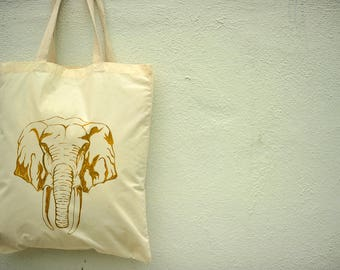 Hand Painted Handbag (Elephant)- Unique Gifts