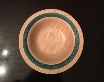Curly Maple with Resin Inlay