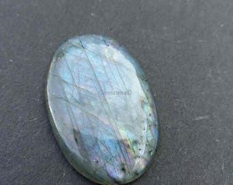 100% Natural Labradorite Cabochon Gemstone, Oval Shape Labradorite, Loose Semi Precious Gemstone, Loose Gemstones Size 35×23×5 MM