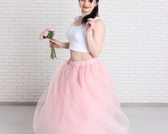 Women tulle skirt, Length tulle skirt, Tutu skirt, Carrie tulle skirt, Wedding tulle skirt.
