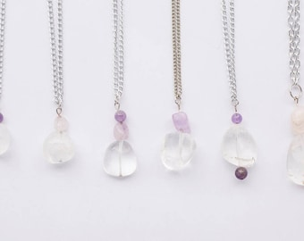 Clear Quartz and Amethyst Necklace
