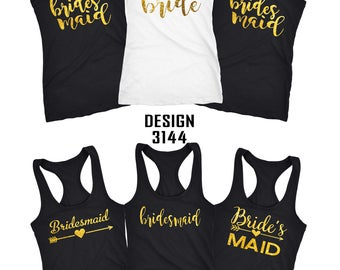 Bride to be Shirts, Bridesmaid tanks, bridal tank tops, Bachelorette party tanks, wedding tanks, bridesmaid tanks, bride tank 3144