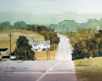 Amish Country - Original Watercolor Painting