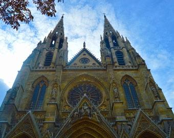 Paris Photograph, Sainte-Clotilde Basilica, Matted and Framed