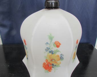 1910's to 1020's Vintage Glass Light Shade