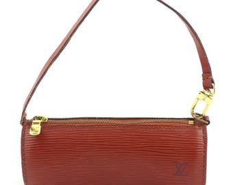 Pre-owned auth LOUIS VUITTON Epi tubular pouch brown