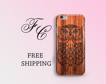 Owl Cell Phone Case Wood Case iPhone 6s Plus Mandala Phone Case iPhone 6s Mandala iPhone Case iPhone 7 Plus Case iPhone 7 iPhone 6 Plus bgb