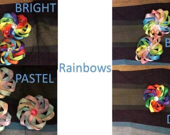 Pinwheel Hair Clips