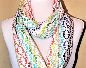 White DNA Infinity Scarf