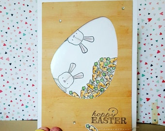 Honey Bunny Easter Card