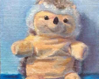 Lil' hedgehog/Who needs a hug? ORIGINAL oil painting