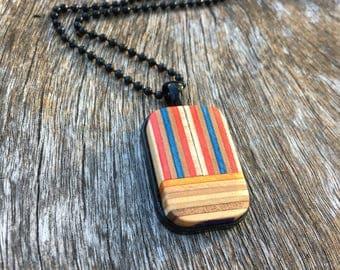 Necklace/ Pendant/ Skateboard Jewelry/ Wooden