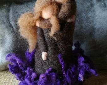 You & Me, wool wool doll, fiber art, waldorf doll, tao, lovers, gift, soulmate, doll of wool for children, art and decoration, sculpture