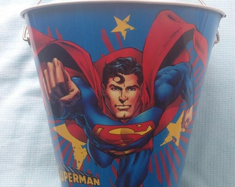 Vintage Superman Tin Bucket