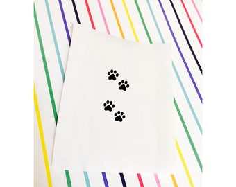 Paw Prints Stickers | Paw Prints Decal | Paw Print | Cat Decal | Dog Decal | Paw Stickers  - iPhone, Phone, Mac, MacBook, Laptop