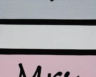 Personalised Mr & Mrs handpainted canvas