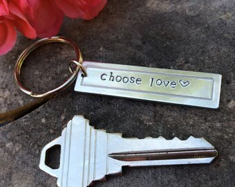 Choose Love Keychain with option for additional charms